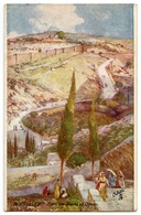 ARTIST : FULLEYLOVE - JERUSALEM - FROM THE MOUNT OF OLIVES (TUCK'S OILETTE) - Other Illustrators