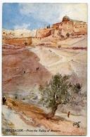 ARTIST : FULLEYLOVE - JERUSALEM - FROM THE VALLEY OF HINNOM (TUCK'S OILETTE) - Other Illustrators