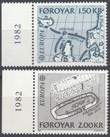 FØROYAR - 1982 - Serie Completa Nuova MNH: Yvert 64/65 Per Complessivi 2 Valori. - Emissioni Locali