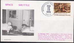 SPACE  - USA-  1978- BEDREST FIRST GROUP  COVER WITH LARGE  MOUNTAN  VIEW  POSTMARK  FEB 11 1978 - Covers & Documents