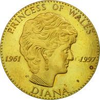 United Kingdom , Médaille, La Princesse Diana, 1997, SUP+, Copper-Nickel Gilt - Royaume-Uni