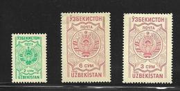 OUZBEKISTAN 1995 COURANTS-ARMOIRIES  YVERT N°61X/Z NEUF MNH** - Ouzbékistan