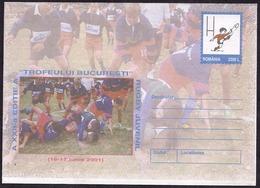 Roumanie - 2001 - Rugby De La Jeunesse - Poste Aérienne - Aérogramme - Aéreo