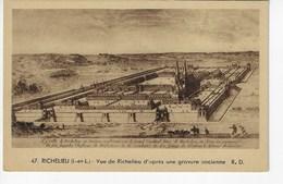 37 - RICHELIEU - Vue De Richelieu D'après Une Gravure Ancienne (H73) - Other Municipalities