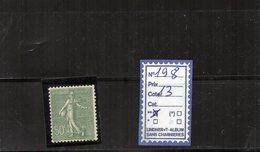 FRANCE LUXE ** - N° 198 - 1903-60 Sower - Ligned