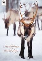 Postal Stationery - Reindeer - Renne - Rendier - Rentier - Renna - Rena - WWF Panda Logo - Suomi Finland - Postage Paid - Finlande