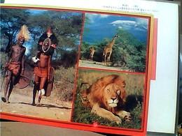 KENIA  MASAI WITH LION GIRAFFE STAMP SELO TIMBRE 1995 UCCELLI BIRDS 10 + 3  GX5491 - Kenia