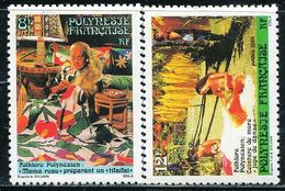 AC1211 Polynesia 1986 Folk Crafts Batik 2V MNH - Stamps