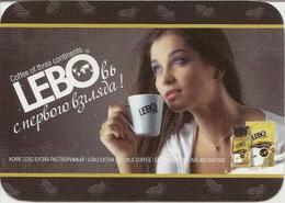 Pocket Calendar Russia - 2015 - Coffee - Girl - Advertising - Calendars