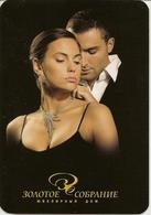 Pocket Calendar Russia - 2008 -  Jewelry - Man - Woman - Advertising - Beautiful - Calendars