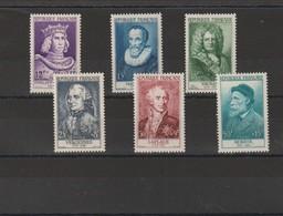 FRANCE 1955 N° 1027 à 1032 **  LEGERES ADHERENCE SUR 1028, 1029 - Unused Stamps