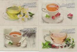 Pocket Calendar Bulgaria - 2016 - 4 Pcs. - Tea - Pharmacy - Cup - Advertising - Calendars