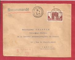 Y&T N°258 STRASBOURG    Vers PARIS  1935  2 SCANS - Postmark Collection (Covers)