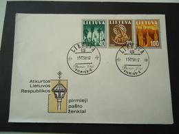 LITHUANIA FDC 91 - Lithuania