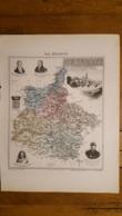 CARTE  ATLAS MIGEON 1888 ARDENNES GRAVEE PAR LECOCQ ET BARBIER FORMAT 35 X 27 CM - Geographical Maps