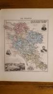 CARTE  ATLAS MIGEON 1888 CHARENTE  INFERIEURE GRAVEE PAR LECOCQ ET BARBIER FORMAT 35 X 27 CM - Geographische Kaarten