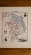 CARTE  ATLAS MIGEON 1888 CHER GRAVEE PAR LECOCQ ET BARBIER FORMAT 35 X 27 CM - Geographical Maps