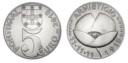 Portugal 5.00euro - Armísticio  - 2018   UNC - Portugal