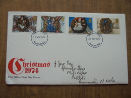 S056: FDC: CHRISTMAS 1974. 3.5p, 4.5p, 8p, 10p. 27 NOV 1974. FIRST DAY OF ISSUE. - FDC