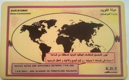 22KWTA  World Map - Kuwait