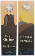 Malta  Coincard 2euro Cc - Património Cultural - 2018  UNC Mintmark - Malte