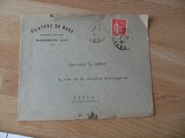 Wasquehal Filature Du Nord Enveloppe Commerciale - 1900 – 1949