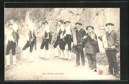 AK Dans Ossaloise, Französ. Volkstanz - Danse