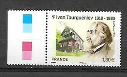 France 2018 - Yv N° 5283 ** - Ivan Tourguéniev - France