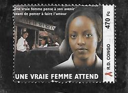TIMBRE OBLITERE DE LA REPUBLIQUE DEMOCRATIQUE DU CONGO  SIDA - République Démocratique Du Congo (1997 -...)