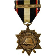 France, Grande Guerre, Chemin Des Dames, Aisne, Médaille, 1914-1918, Excellent - Other