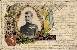 Cp Prince Georg Wilhelm Von Hannover, Duc Zu Braunschweig Lüneburg, Portrait, Blason - Familles Royales