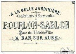 """BOURLON-SABLON    """"A La Belle Jardiniere""""       BAR Sur AUBE               Confection & Nouveautés - Wechsel"""
