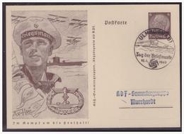 WKII Luxemburg (005050) Propagandaganzsache P5/06 U-Boot Und Wasserflugzeug, Blanco Gestempelt Ulm Mit SST Am 12.1.1941 - Occupation 1938-45