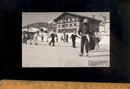 X6 Cartes Photo MEGEVE Haute Savoie 74 : Enfants Déguisés En Patin à Glace Sur La Patinoire Patineurs Ice Skating - Megève
