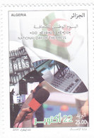 Algeria New Issue 2018, National Day Of Press 1v.complete Set MNH- SKRILL PAYMENT ONLY - Algeria (1962-...)