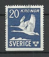 SCHWEDEN 1942 Michel 290 Du, 20 Kr. Schwäne, Swan O - Swans