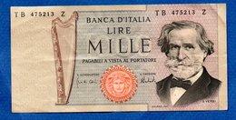 Italie -  1000 Lires - Pick # 101 A     - état  TTB - [ 2] 1946-… : Républic