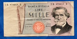 Italie -  1000 Lires - Pick # 101 A     - état  TTB - 1000 Lire