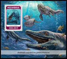MOZAMBIQUE 2018 MNH** Prehistoric Water Animals Wassersaurier Dinosaure Eau S/S - IMPERFORATED - DH1826 - Prehistorics