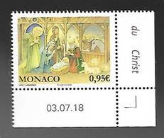 Monaco 2018 - Yv N° 3163 ** - Noël - Unused Stamps