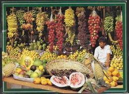 SRI LANKA - VENDITORE DI FRUTTA - FORMATO GRANDE 17X12 - VIAGGIATA 2001 FRANCOBOLLO ASPORTATO - Asia