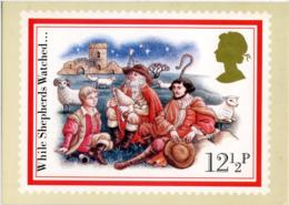 CHRISTMAS  WHILE SHEPHERDS WATCHED... Reproduced From A Stamp - Francobolli (rappresentazioni)