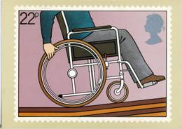INTERNATIONAL YEAR OF DISABLED PEOPLE  Reproduced From A Stamp - Stamps (pictures)
