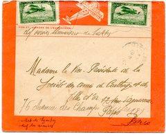 Env. Lignes Aériennes LATECOERE Signée Par Le Chef Des Armées Pour PARIS - Marokko (1891-1956)