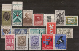 (Fb).Repubblica.1957-58.Serie E Spezzature,nuovi,gomma Integra,MNH (242-18) - 6. 1946-.. Republic