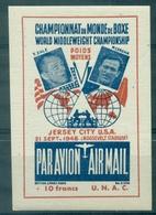 USA BOXE Championnat  Du Monde 21.9.1948 Nxx M.CERDAN / T.ZALE Faciale 10 Fr. Rare  TB. - Erinnofilia