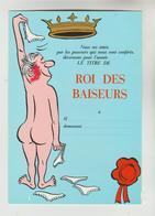 2 CPM HUMOUR AMOUR - Roi Des Baiseurs,  Reine Des Pucelles - Humour