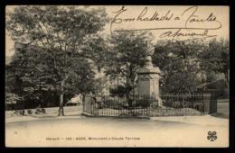 34 - Agde - 145 Monuments à Claude Terrisse #07958 - Agde