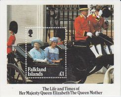 Falkland Islands 1985  Life And Times Of The Queen Mother M/s  ** Mnh (41257D) - Falklandeilanden