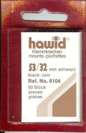 Hawid - Pochettes 53x32 Fond Noir - Bandes Cristal